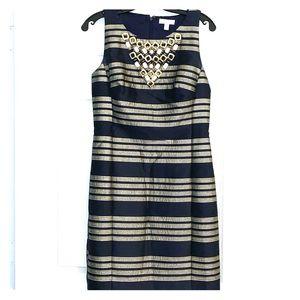 Lilly Pulitzer Navy & Gold Dress - Lightly Worn 4